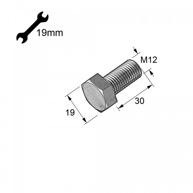 HEXAGON HEAD STEEL BOLT M12x30